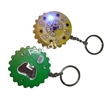 Flashing Bottle Opener with Keychain