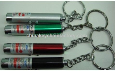 Red Laser Pointer With Keychain