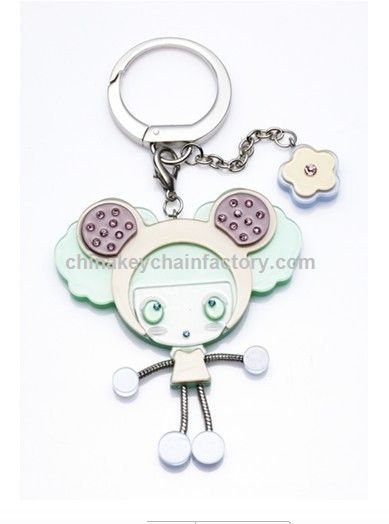 Fashion Doll Acryl Keychain