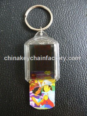 Solar Powered LCD clignotant Keychain