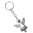 ANGEL KEYCHAIN WITH CRYSTALS AND JINGLING BELL