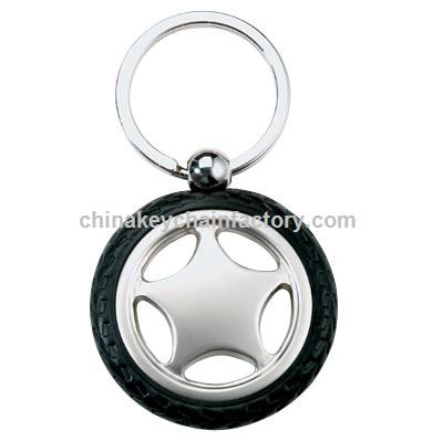 RUBBER,METAL TIRE KEY CHAIN