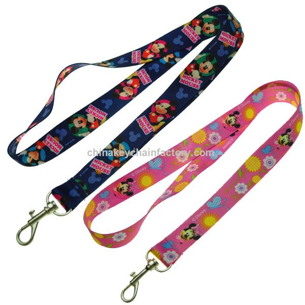 Disney Mickey Mouse e Minnie Lanyard Chaveiro porta-chaves
