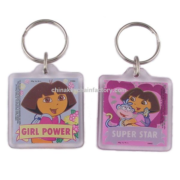 Dora the Explorer Lucite Keychain
