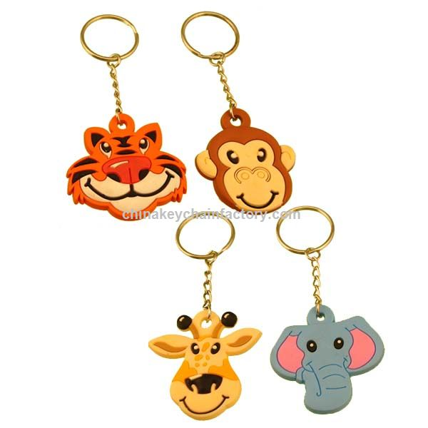 Vinyl Zoo Animal Key Chains