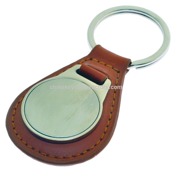 LEATHER FOB BROWN
