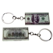 $100 Bill Keychain Glass