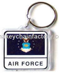 Acryl Armed Forces Keychain Air Force