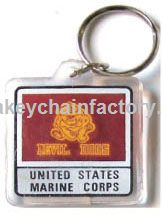 Acryl Armed Forces Keychain Marines Devil Dogs
