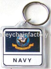 Acryl Armed Forces Navy Keychain