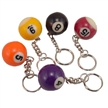 Billiard Ball Key Chain Assorted