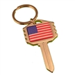 Deluxe USA Flag Key Shape Key Chain