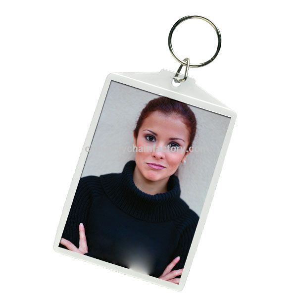 LARGE 2.5X3.5 SNAP PHOTO KEY CHAIN
