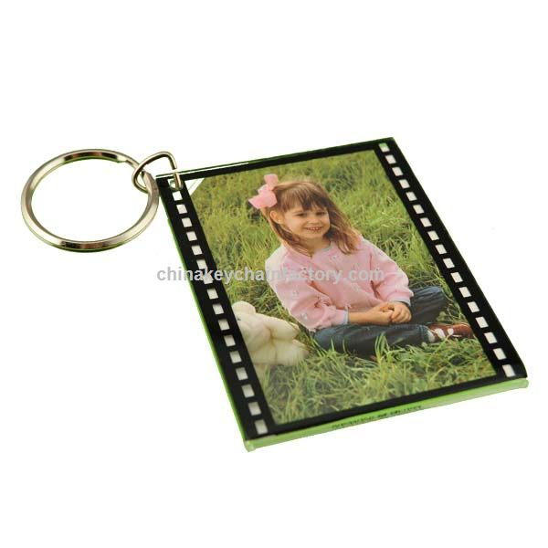 Large Film Strip Style Photo Holder Key Chains