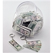 Money Five Assorted Bills Keychain 48 Jar