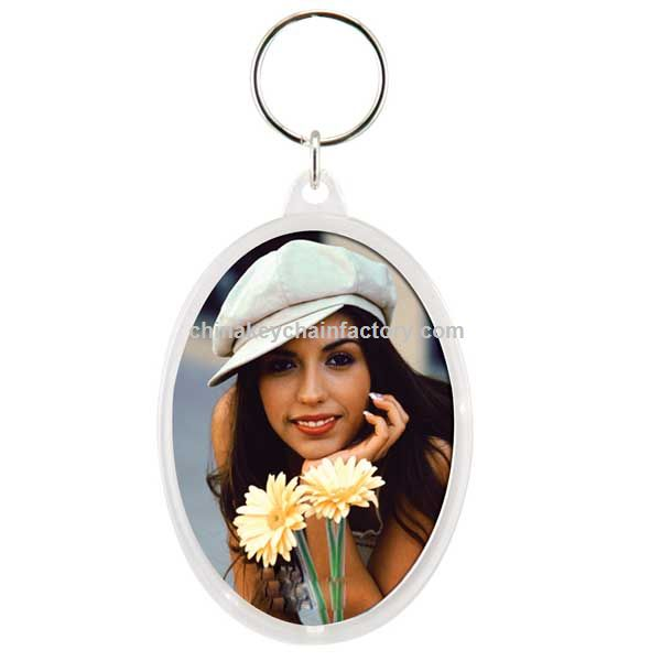SNAP OVAL EM KEYHOLDER PHOTO