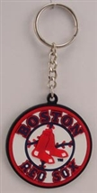 Boston Red Sox MLB Logo Soft Vinyl Keychain