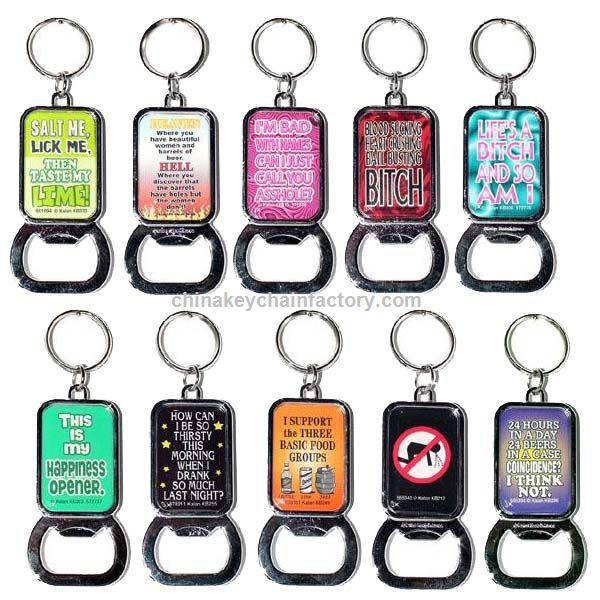 promotional funny sayings bottle opener keychains 12 card suppliers china wholesale funny. Black Bedroom Furniture Sets. Home Design Ideas