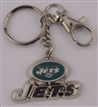 New York Jets Deluxe Metal Key Chain