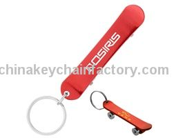Bottle Opener Skateboard Key Chain