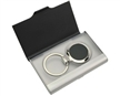 Ebony Key Ring Business Card holder set