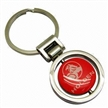 Blank Metal Keychain, with Laser Engraved Logos, 30mm Flat Split Keyring
