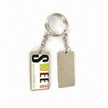 Enameled Metal Keychain in Bright Color, Customized Designs and Engraved are Accepted