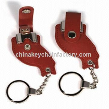 Keychain USB flash drive in cartoon shape,