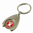 Metal Keychains with Zinc Alloy Material, Engraved Logo with Color Fit