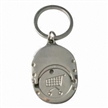 Multifunctional metal coin keychain with engraved pattern