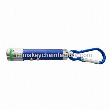 Promotional LED Keychain with Laser Pointer, Customized Designs are Accepted
