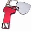 USB Flash Drive Keychain with Stainless Steel Housing, Available in Various Colors