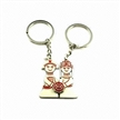 Boy and girl nice stainless steel keychains for lovers