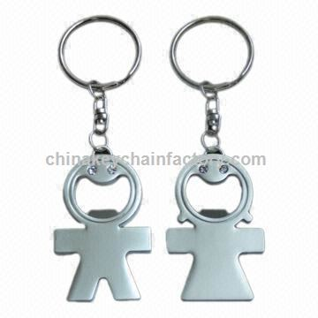 Couple Keychains for Lovers, with High Efficiency Feature, Made of Metal