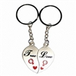 Fashionable Couple keychains, Ideal for Lovers as the Promotional Gifts